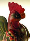 Colorful cockerel — Stock Photo