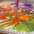 Watercolors in  studio — Stock Photo