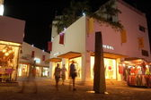 Historic town at night — Stock Photo