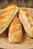 Baguette bread loaves — Stock Photo