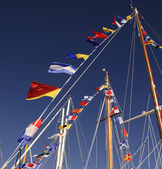 Mast flags — Stock Photo