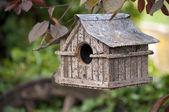 Hanging bird house — Stock Photo