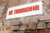 No thoroughfare sign — Stockfoto