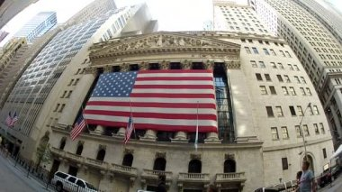 NYSE fish eye — Stock Video