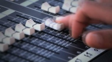Sound console — Stock Video