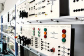 Control panels in an electronics lab — Stock Photo