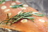 Raw Pink Salmon fish — Stock Photo