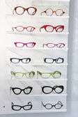 Display of colourful modern spectacles — Stock Photo