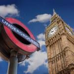 The Underground And Big Ben, London — Stock Photo