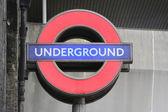 Underground tecken — Stockfoto