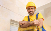 Handsome young bearded workman — 图库照片