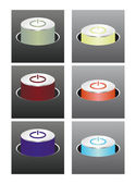 Colored glowing buttons — Vector de stock