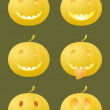 Halloween smiles — Stock Vector