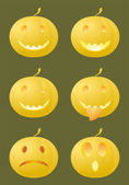 Sonrisas de halloween — Vector de stock