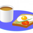 Breakfast — Stock Vector