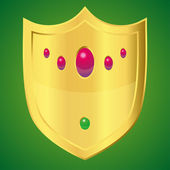 Golden shield — Vector de stock