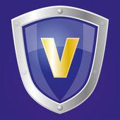 Sapphire shield — Stock Vector