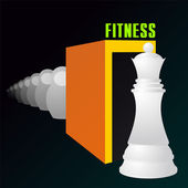 Fitness — Vector de stock