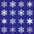 Set of snowflakes   — Stok Vektör