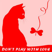 Don'n play with love — Vector de stock