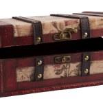 Vintage wooden treasure chest — Stock Photo