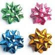 Stock Photo: Big set of colorful gift bows with ribbons. Vector illustration.