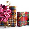 Gift boxes with bows — Stock Photo
