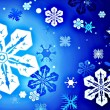 Snowflake icon set — Stock Photo