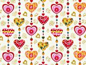 Corazón san valentín creado a partir de palabras — Foto de Stock