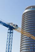 Building of a skyscraper — Stock Photo
