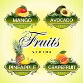 Fruits. Vector. — Stock Vector