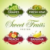 Sweet Fruits. Vector — Stock Vector