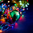 Christmas background with Christmas toys — Foto de Stock