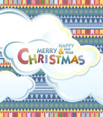 Christmas background. Vector — Stock Vector