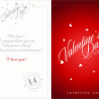 Valentine card — Vector de stock #40306029