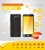 Vector mobile background — Vector de stock