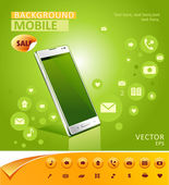 Vector mobile background — Stock Vector