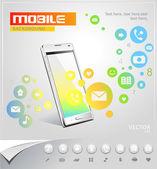 Vector fondo móvil — Vector de stock