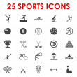 Sports icons vector — Stock Vector