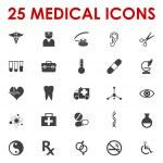 Healthy icons vector — Stock Vector