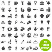 Food and drink icons vector — Stock Vector