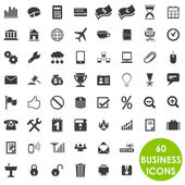 60 valuable creative business icons — Stock Vector