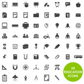 Education icons basics vector — Stock Vector