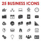 бизнес управление иконы вектор — Cтоковый вектор