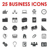 Vector de iconos de oficina de negocios — Vector de stock
