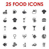 Food icons basics series vector — Stock Vector