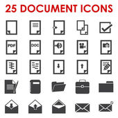 File type and business icons — Stock Vector