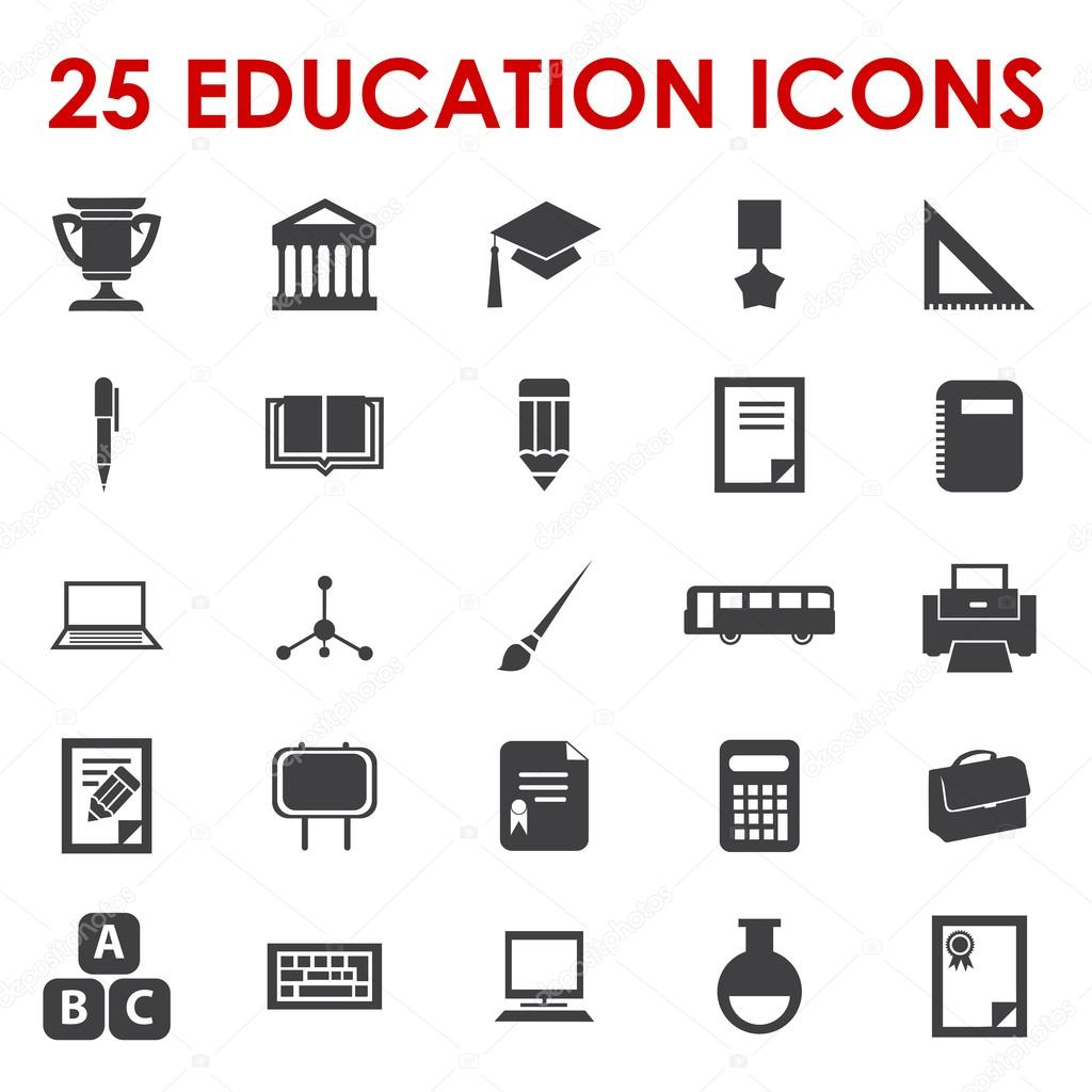 25 Education icons vector — Stock Vector #14083218