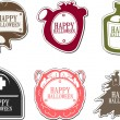Set of Happy Halloween labels - Stock Vector