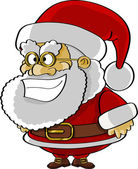 Funny Santa cartoon — Stock Vector